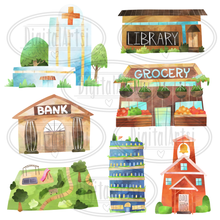 Buildings Graphics Set