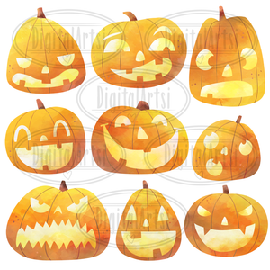Jack O Lanterns Graphics Set