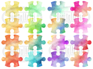 Puzzle Pieces Graphics Set