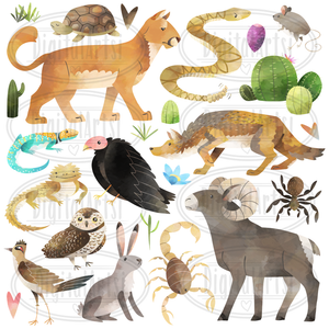Desert Animals Graphics Set