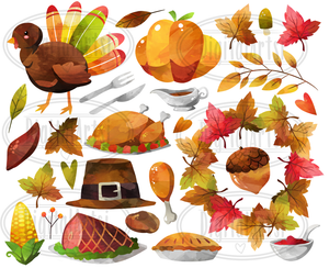 Thanksgiving Graphics Set