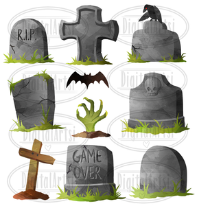 Tombstone Graphics Set