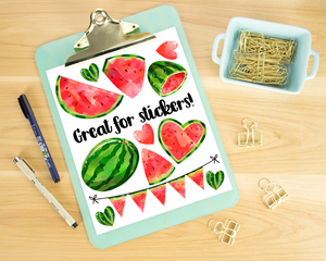 Watermelon Graphics Set