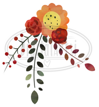 Autumn Floral Graphics Set