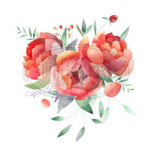 Peonies Graphics Set