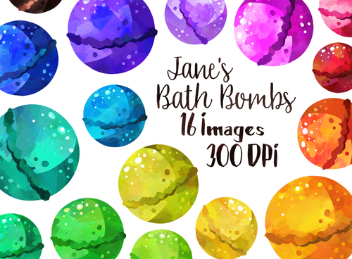 Bath Bombs Graphics Set