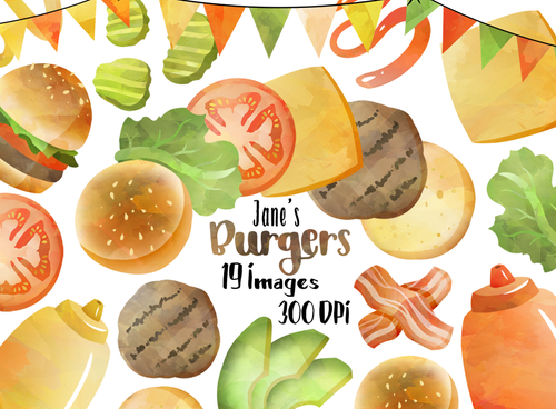 Burger Graphics Set