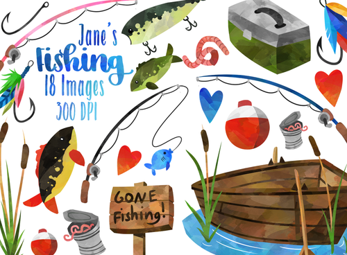 Fishing Graphics Set