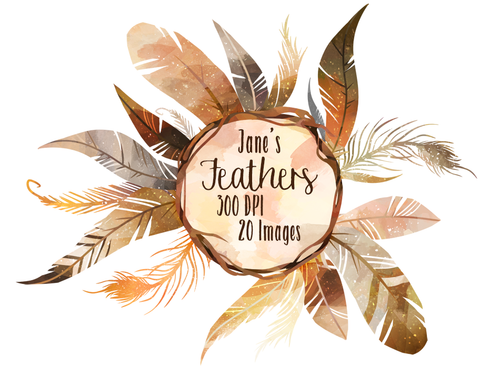 Feather Graphics Set