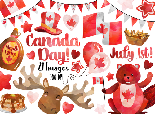 Canada Day Graphics Set