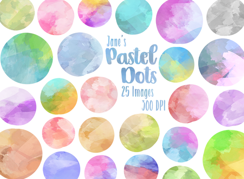 Watercolor Dots Graphics Set