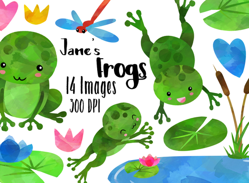 Frog Graphics Set