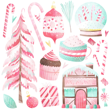 Peppermint Graphics Set