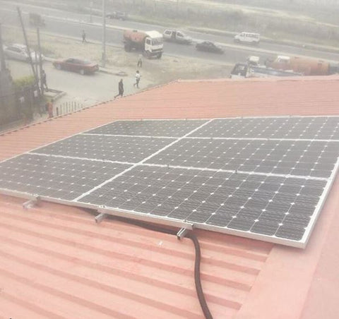 Solar panel installation by Wavetra Energy in Nigeria