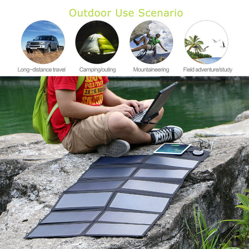 80W Mono Solar Charger for Mobile Phones, iPad and Android Tablets Solar Panel Wavetra Energy