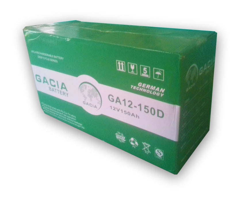 Gacia 12V 150AH Sealed Maintenance Free Inverter Battery  Wavetra Energy