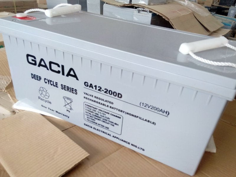 Gacia 12V 200AH Sealed Maintenance Free Inverter Battery  Wavetra Energy