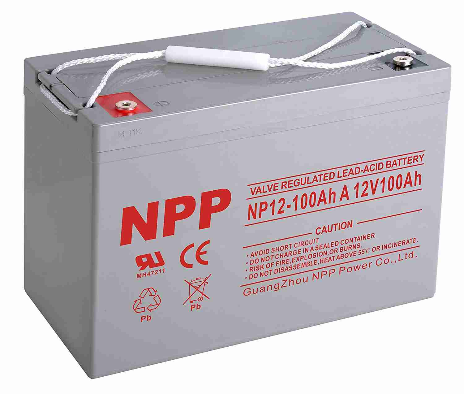 NPP 12V 100Ah AGM deep cycle battery Deep cycle batteries Wavetra Energy