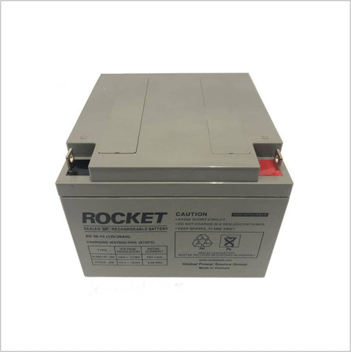 12V 26Ah Rocket AGM VRLA UPS deep cycle battery Deep cycle batteries Wavetra Energy