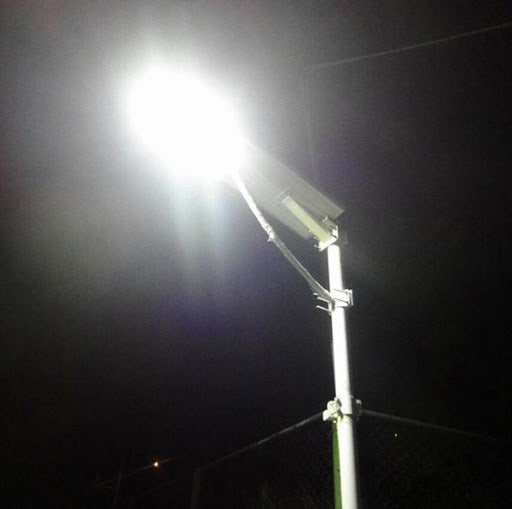 Wavetra 80W Integrated All In One Solar LED Street Light With Panel & Battery