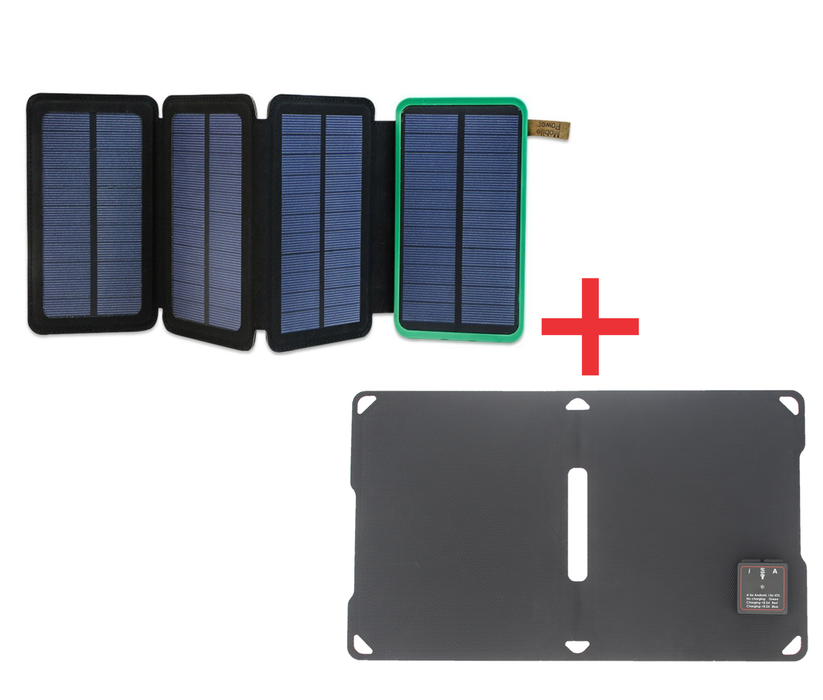 Solar Charger Power Bank + Solar Panel Foldable Mobile Charger Solar charger Wavetra Energy