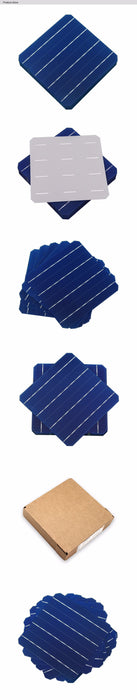10Pcs 5W Photovoltaic Mono Solar Panel Cell 6x6 Grade A High Efficiency For DIY Monocrystalline Silicon Panel Solar panel Wavetra Energy