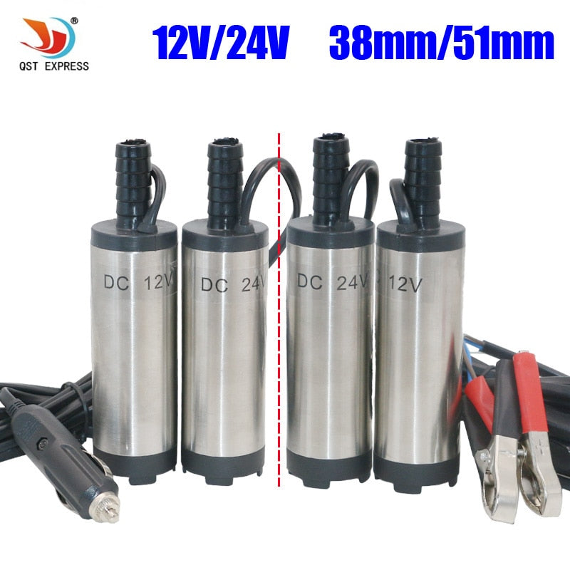 12V and 24v DC Diesel Fuel Water Oil Car Camping fishing Submersible Transfer Pump Wholesale 38mm 51mm water pump Wavetra Energy