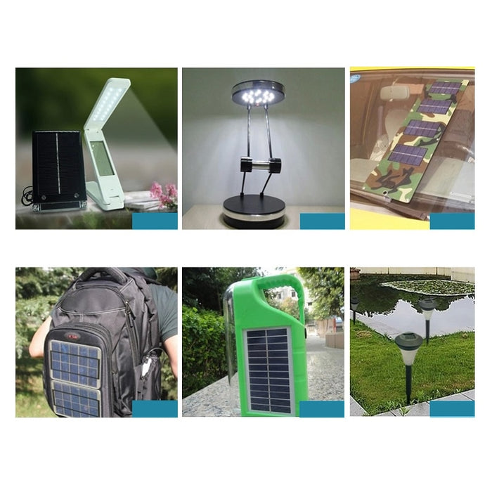 Solar Panel 5V 6V 12V Mini Solar System DIY For Battery Cell Phone Chargers Portable 0.15W 0.6W 1W 1.25W 1.5W Solar Cell Solar Panel Wavetra Energy
