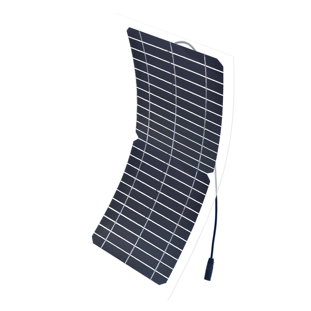 Boguang 12v 10w Transparent semi-flexible silicon Monocrystalline solar panel cell DC module 12vol DIY battery phone adapter kit  Wavetra Energy