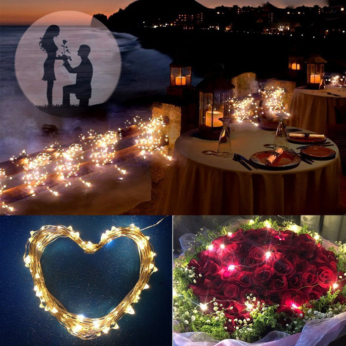 11m 21m LED Outdoor Solar Lamps 100/200 LEDs String Lights Fairy Holiday Christmas Party Garland Solar Garden Waterproof Lights LED and Torchlight Wavetra Energy