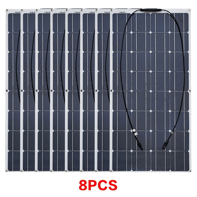Wavetra Flexible Solar Panel 16V 100W plate CELLS Monocrystalline silicon Photovoltaic Panels 200w 400w 600w 800w 1000w china Solar Panel Wavetra Energy