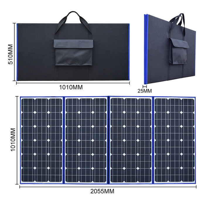 320W 18V Flexible Foldable Solar Panel High Quality Portable panel For Camping/Boat/RV/Travel/Home/Car Solar Panel Wavetra Energy
