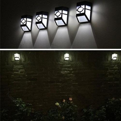 Led Solar Wall Light Solar Powered Outdoor Garden Path Landscape Fence Yard 6-10 Hours Charging Wall LED and Torchlight Wavetra Energy