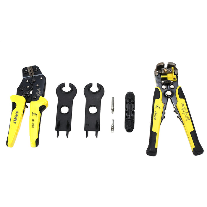 Solar Panel Crimping Tools 2.5-6mm 14-10AWG Wire Crimper Solar Wire Connector Cut Kit With Wire Stripper Crimping Pliers Tools Solar accessories Wavetra Energy