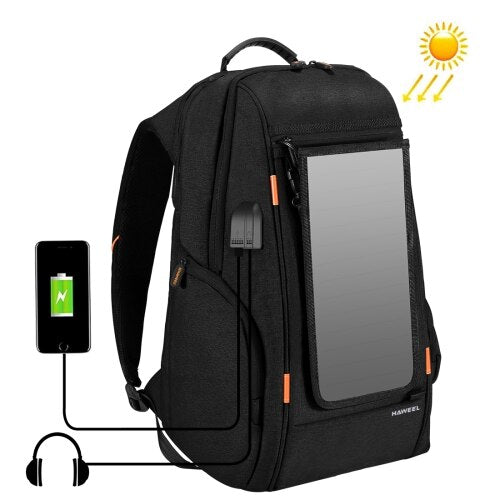 Solar Backpack Outdoor Travel Backpacks USB Solar Charger Daypacks Backpack Sports Bag Convenience Charging Laptop Bag 7W 5V/1A Accessories Wavetra Energy