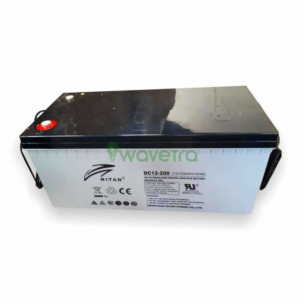 Ritar 12V/200Ah Agm Deep Cycle Battery Batteries