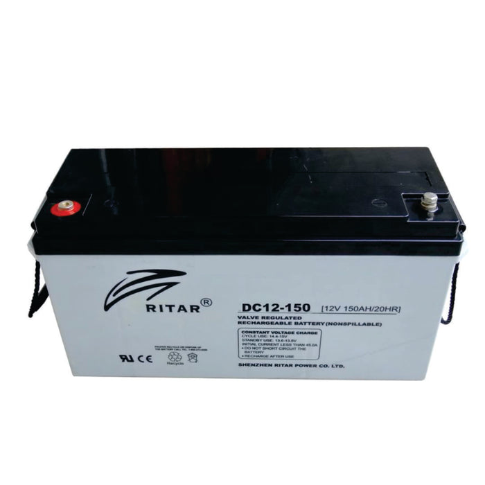 Ritar 12V/150Ah AGM Deep cycle Battery Deep cycle batteries Wavetra Energy
