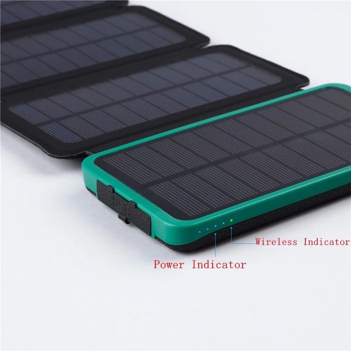Solar Charger Power Bank Foldable With Flash Light - 10000mAh Solar charger Wavetra Energy