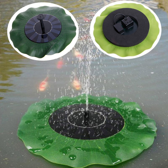 Wavetra Solar Water Fountain Pump With Lotus Leaf LED and Torchlight Wavetra Energy