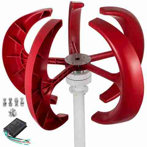 Max 600W AC 12V 24V Wind Turbine Generator Lantern 5 Blades Motor Kit Vertical Axis For Home Hybrid Streetlight Use