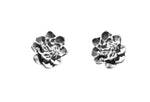 Sterling Silver Contemporary Camellia Stud Earrings by Artist