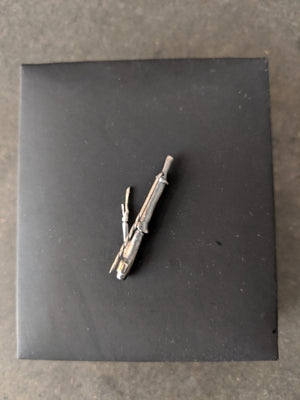Wabi-Sabi Bamboo Brooch N2 in Frosted Sterling Silver by the Artist, Feat. in Vogue