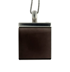 Art Deco Pendant Necklace with Smoky Quartz by the Artist, featured in Vogue UA