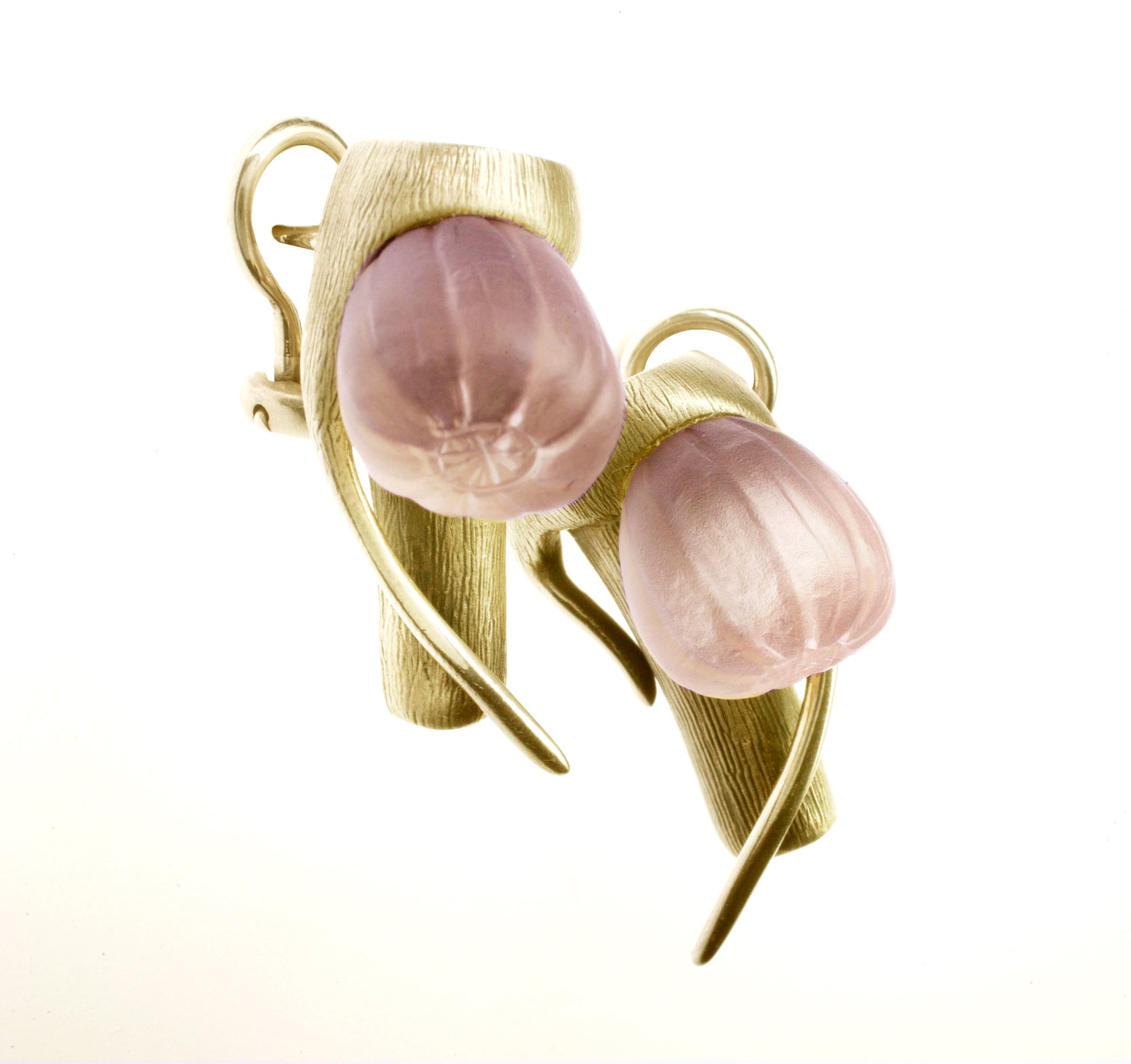 14 Karat Yellow Gold Earrings by the Artist
