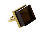 Ink Ring in 14 Karat Yellow Gold with Smoky Quartz