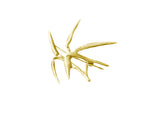 18 Karat Gold Bamboo Brooch No.1