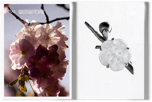 Sakura Contemporary Pendant by the Artist in Silver with Rock Crystal Flower