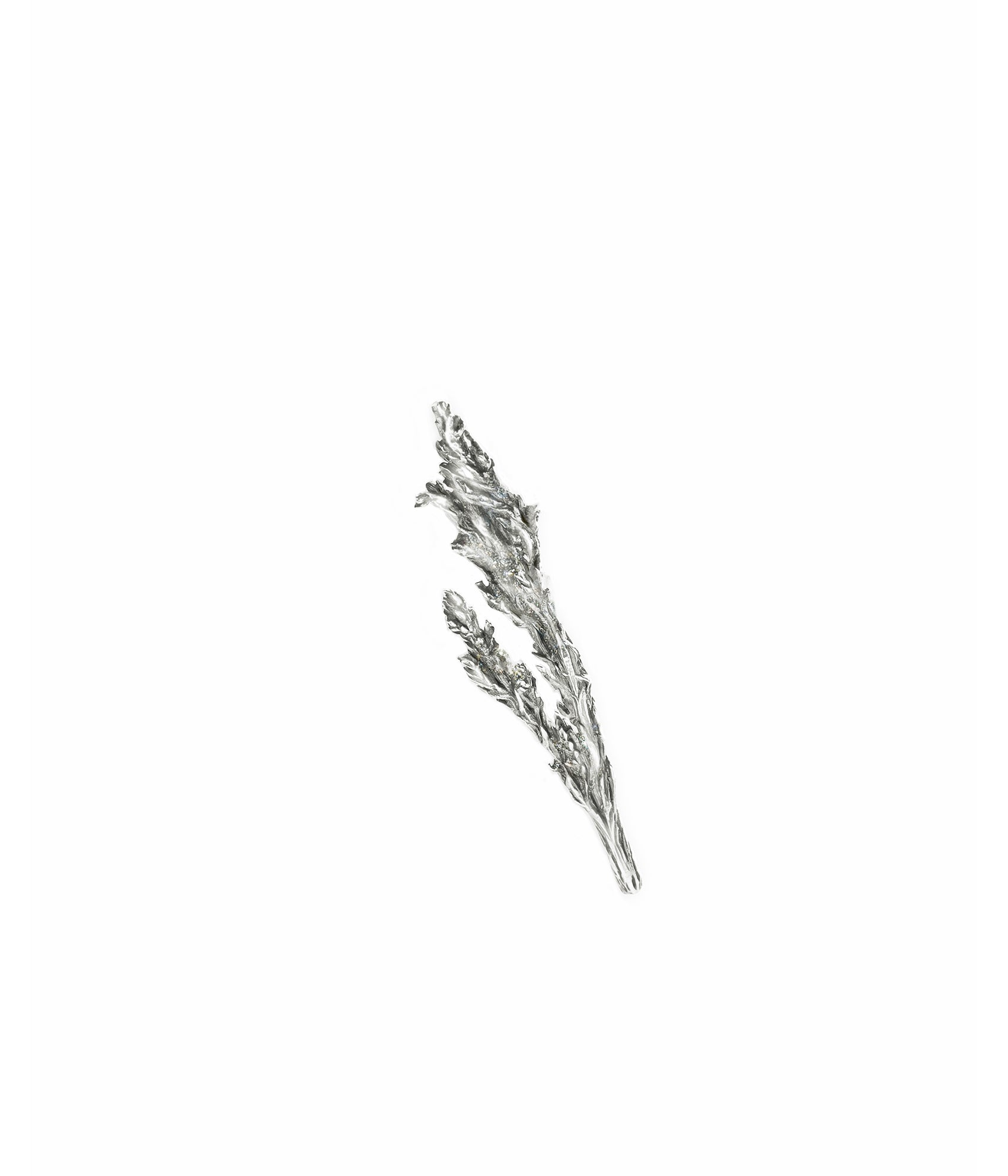 Juniper brooch in 18 Kt white gold