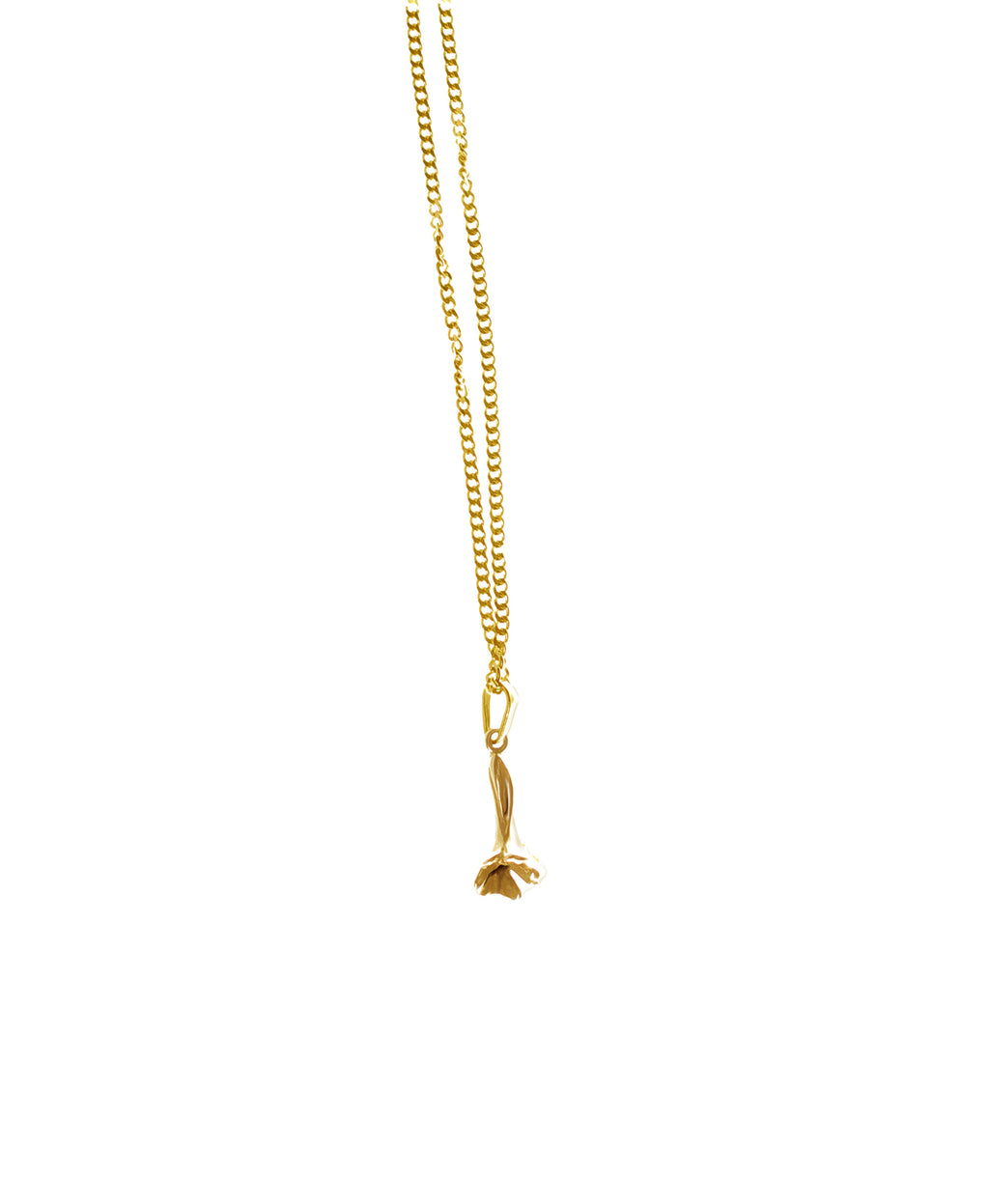 Lavander tiny pendant in yellow gold by Velar