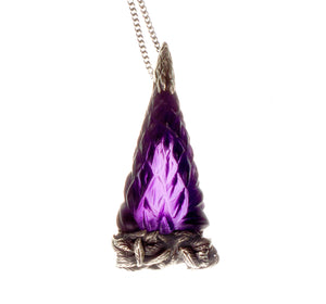 Lupine, Pendant Necklace with Amethyst